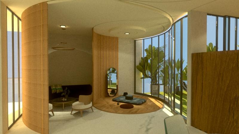 The zen living area