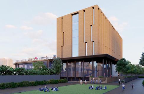 School building render