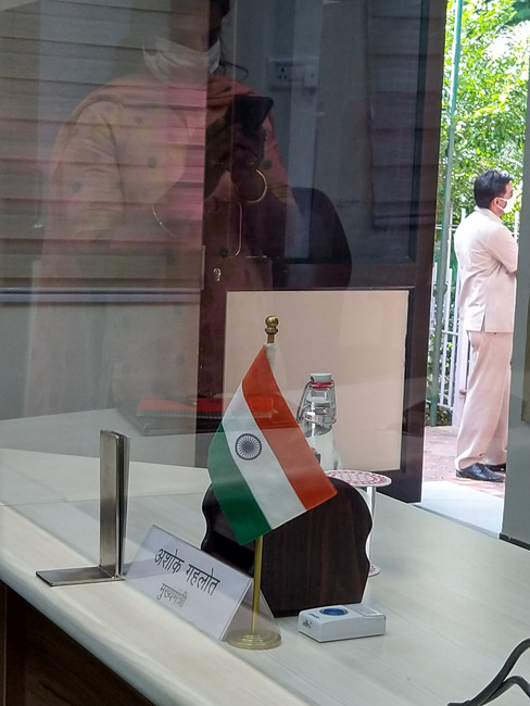 Installation at CM house, Rajasthan