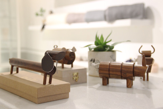 Handcrafted wooden indian animal toys