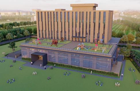 School building render 2