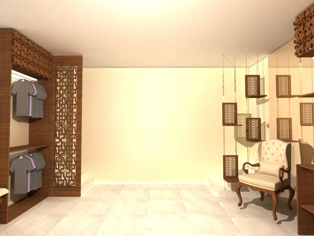 wood carving room divider