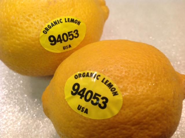 Exemplo de Limão Orgânico, codificado pelo PLU