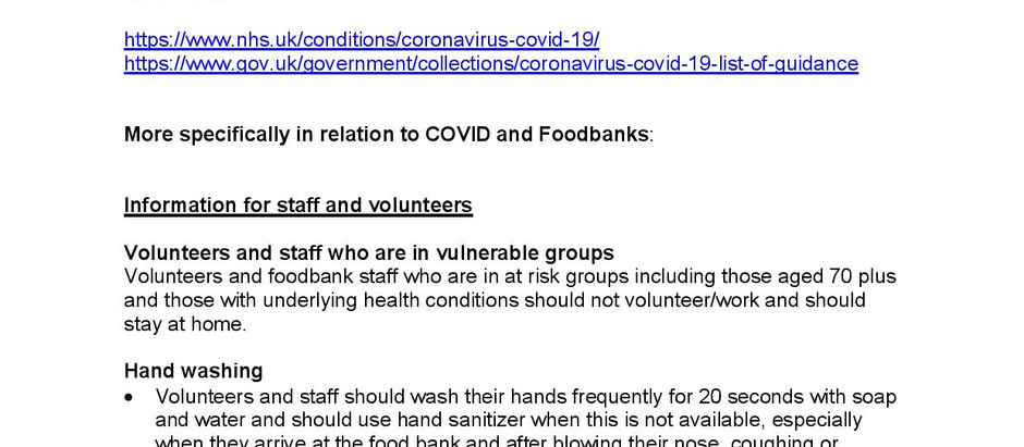 Sheffield Food banks and COVID 19