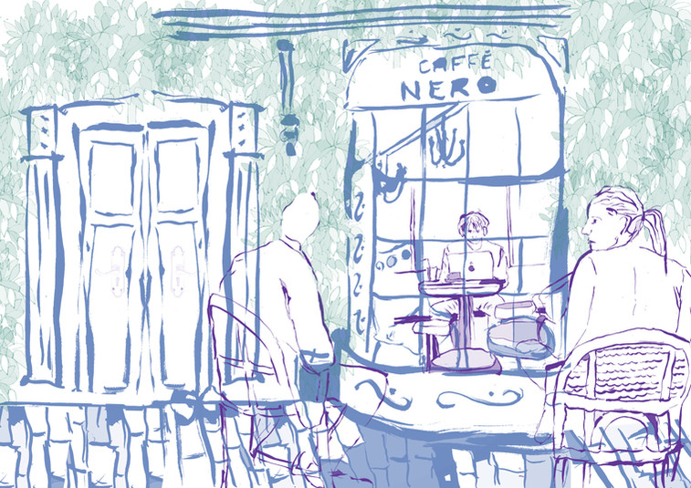 Caffe Nero Observational Drawing