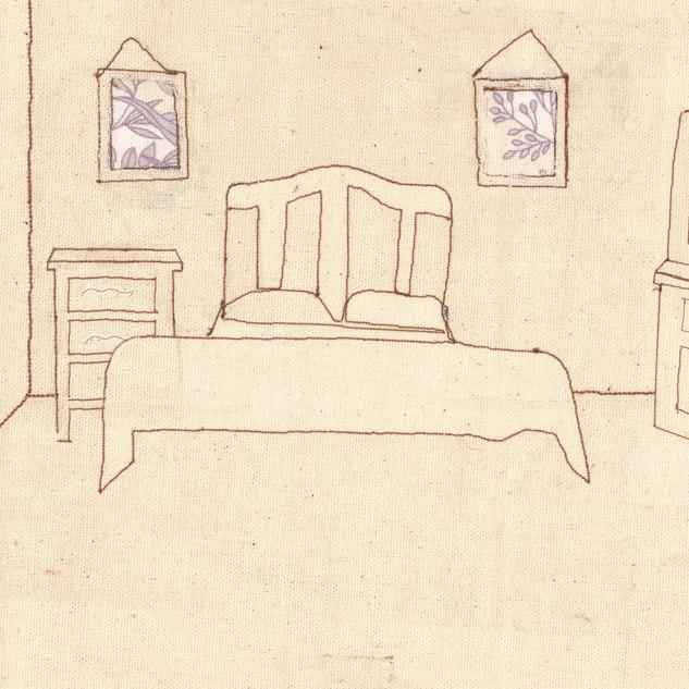 Bedroom for Under Milk Wood Scene