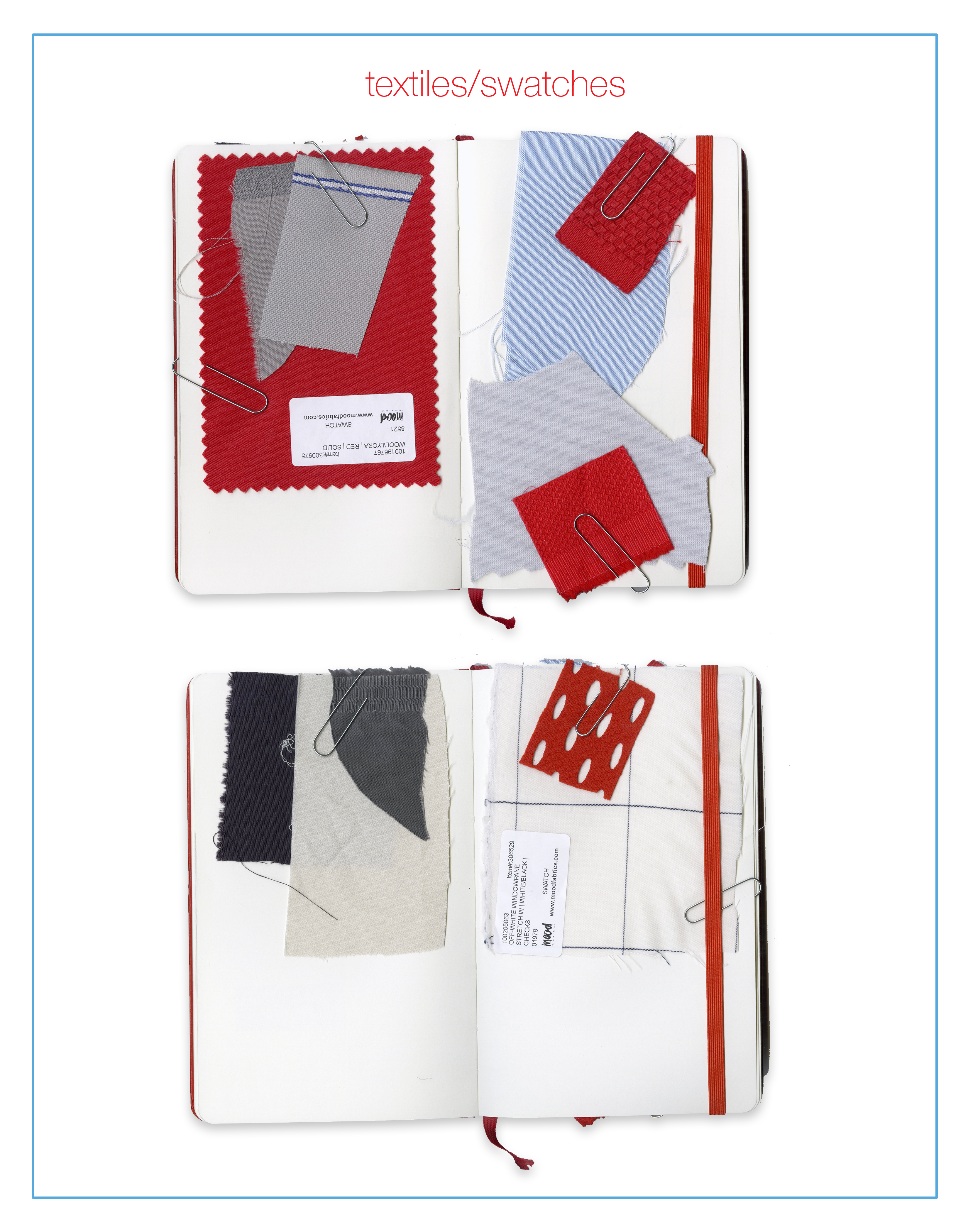 Little Red Book - Fabric Swatches