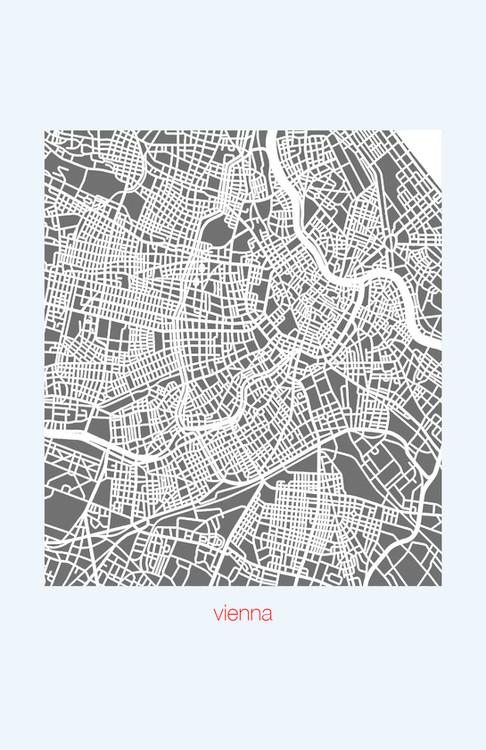 Vienna Map Print