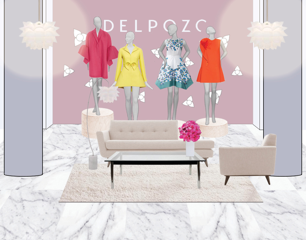 Delpozo Pop-Up Shop - Interior Decor