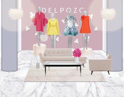 Delpozo Pop-Up Shop - Interior Decor