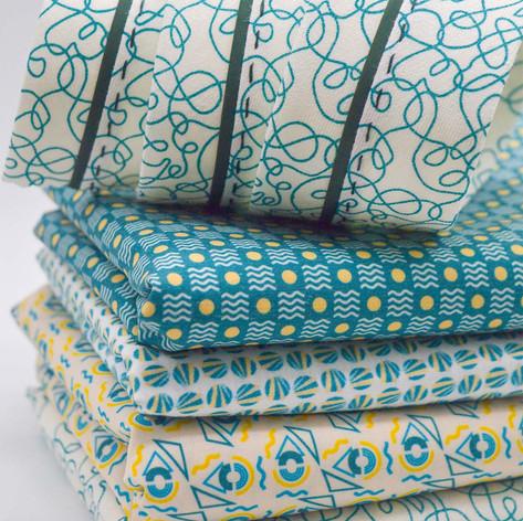 Geometric Print Mix, Fine Tip Fluid Lines