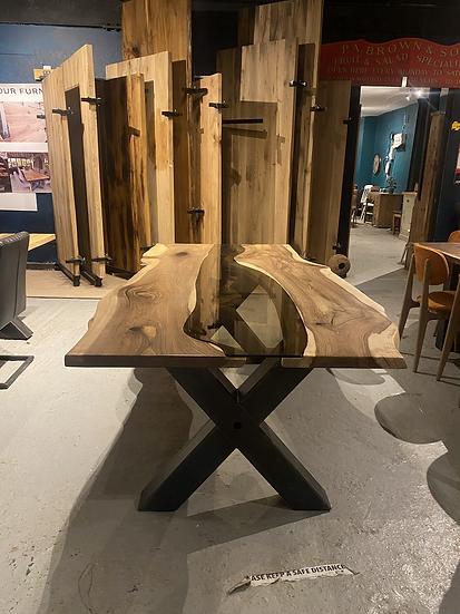 220 x 100 cm Walnut River Table