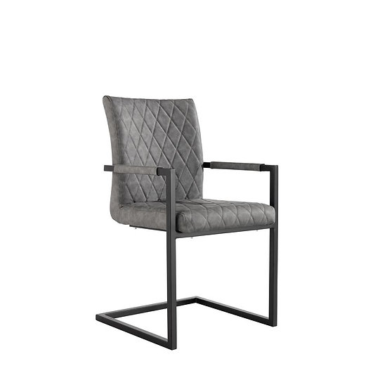 Carver Diamond Back Counter Lever Chair (GREY)