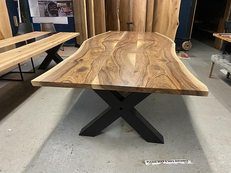 300 x 130 cm walnut mirror table