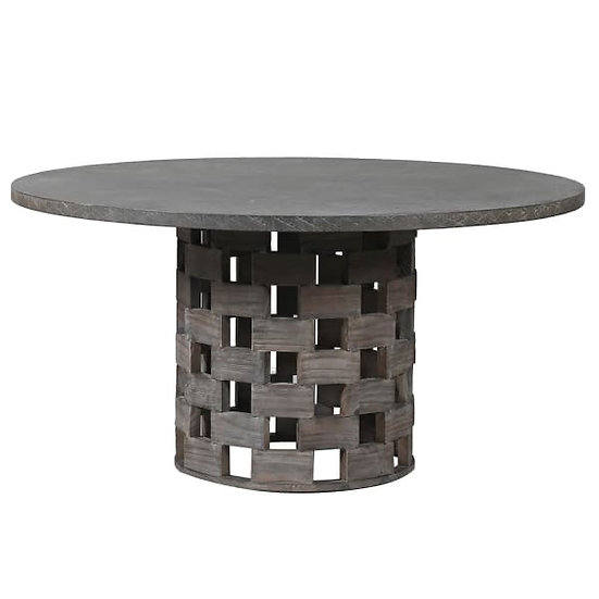 Round Concrete Top Table