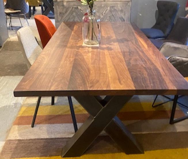 220 x 100 cm American walnut dining table