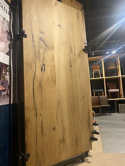 230 x 105 cm 100 year old oak table