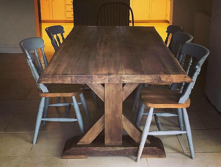 Oak Table with Oak Union Base