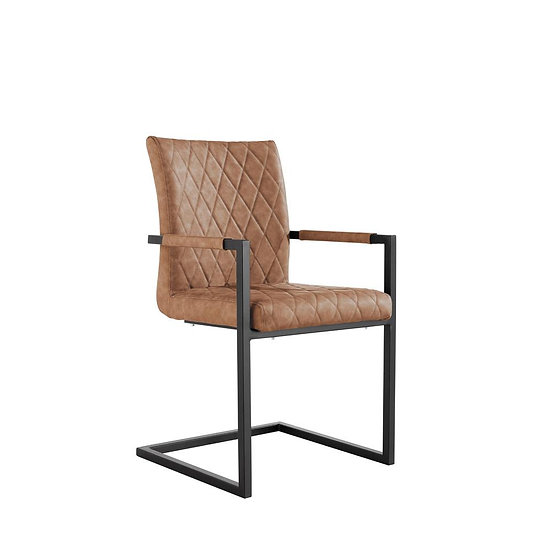 Carver Diamond Back Counter Lever Chair (TAN)