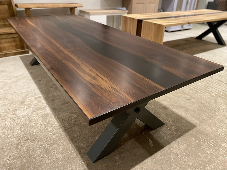 300 x 120 Resin American Walnut Table