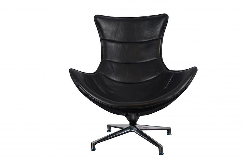 Costel Black Leather Chair