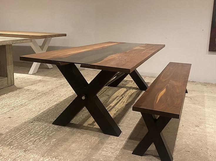 250 x 100 cm American Walnut River Table