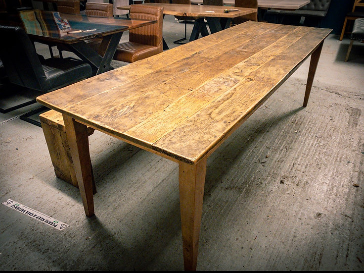 244 x 88 cm Reclaimed pine table