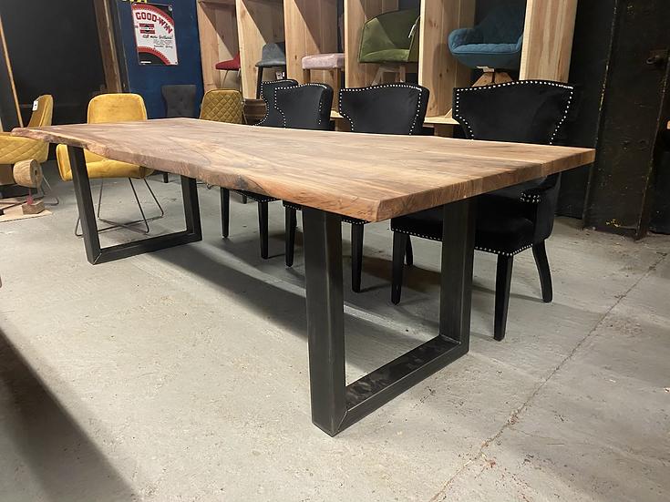 280 x 100 cm walnut waney edge dining table