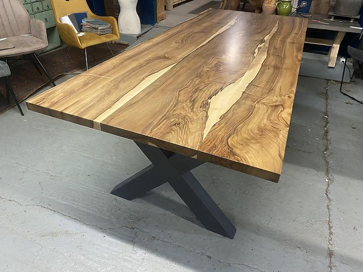 240 x 100 cm walnut dining table