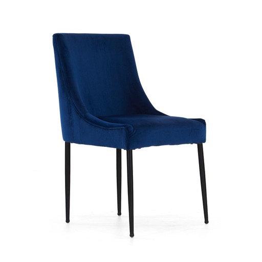 Archie blue velvet chair