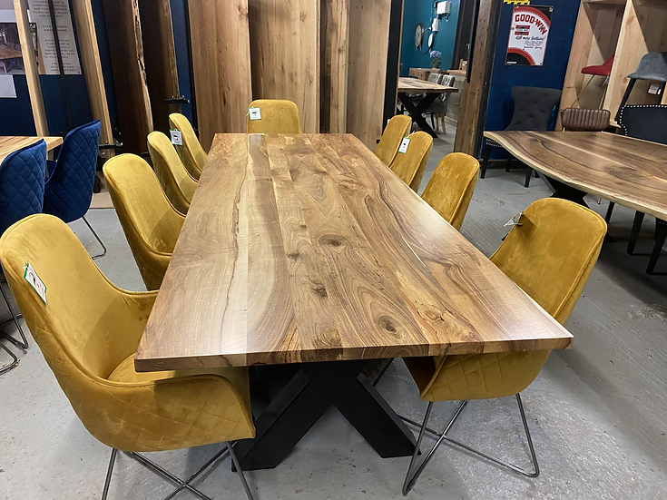 280 x 100 cm walnut dining table