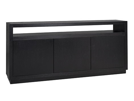 Black Oak 3 Door Sideboard