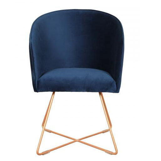 Freemont Velvet Chair with metal base