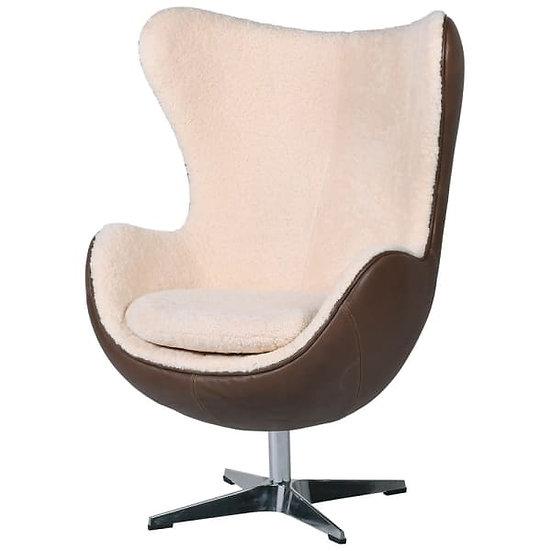Sheep Skin & Leather Egg Chair