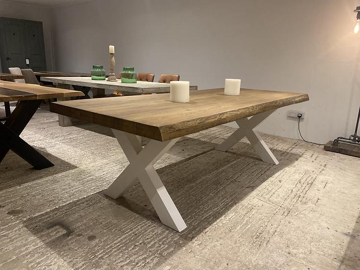 240 x 100 cm Whiskey Oak Dining Table