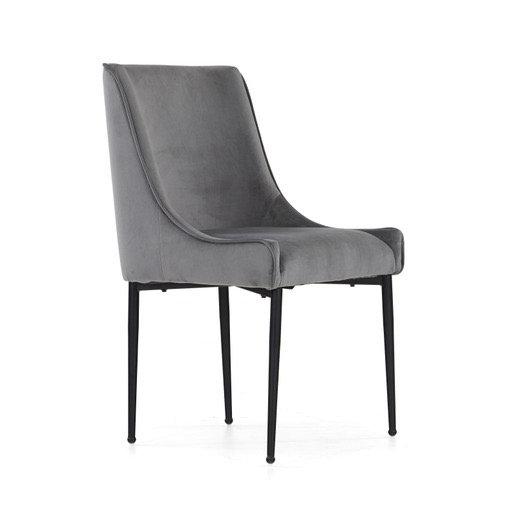 Archie grey velvet chair
