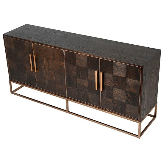 District Parquet 4 Door Sideboard