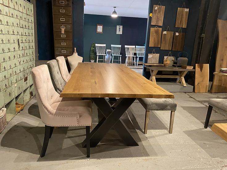 240 x 100 cm natural oak table
