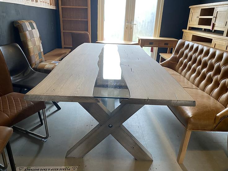 220 x 100 cm oak river table