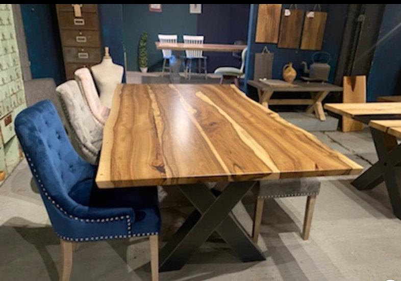 220 x 112 cm walnut waney edge dining table