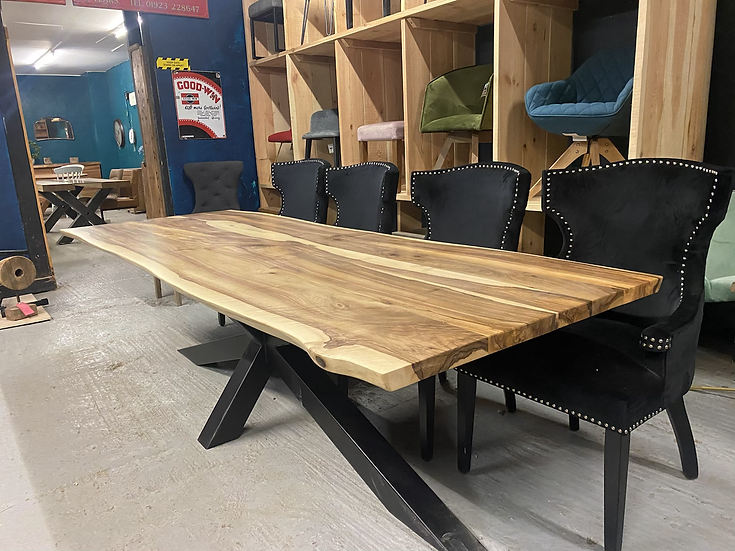 260 x 90 cm walnut dining table