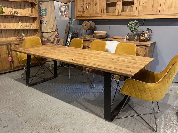 240 x 100 cm chamfered edge table