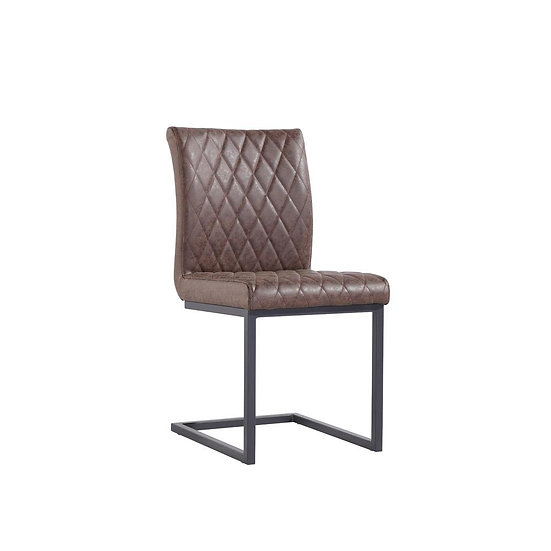 Diamond Back Counter Lever Chair (BROWN)