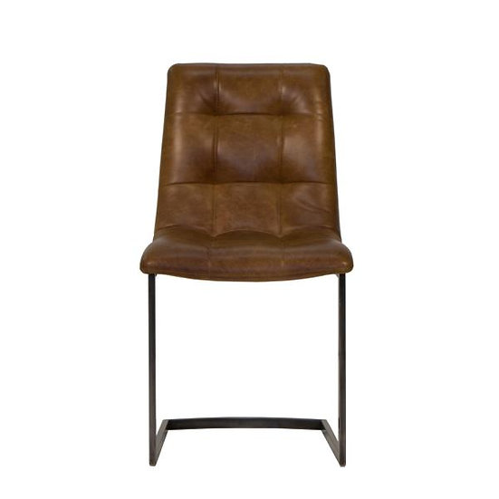 Leather Metal Base Chair