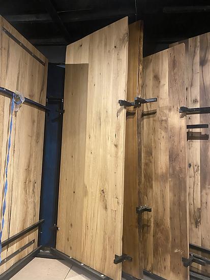 280 x 106 cm 100 year old oak table