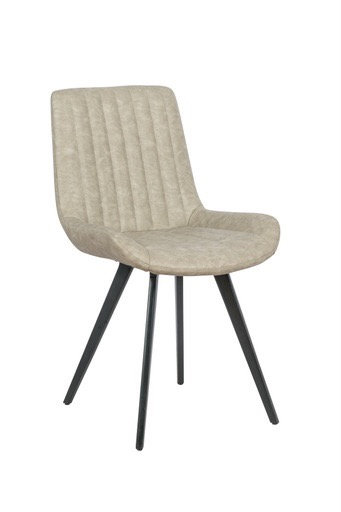 Ribbed front chair (pebble)