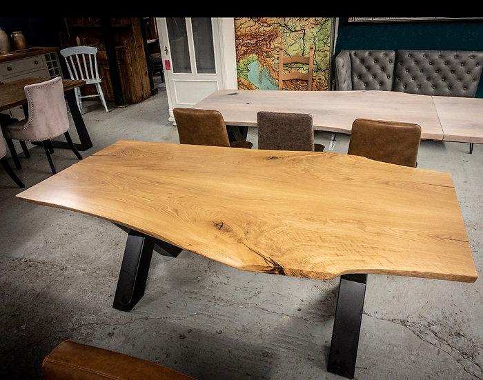 200 x 110 cm double slab oak table