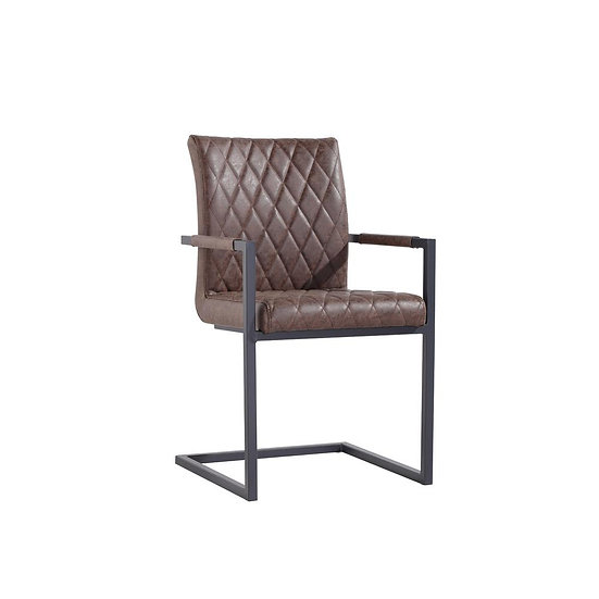 Carver Diamond Back Counter Lever Chair (BROWN)