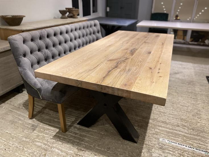 220 x 100 cm oak table