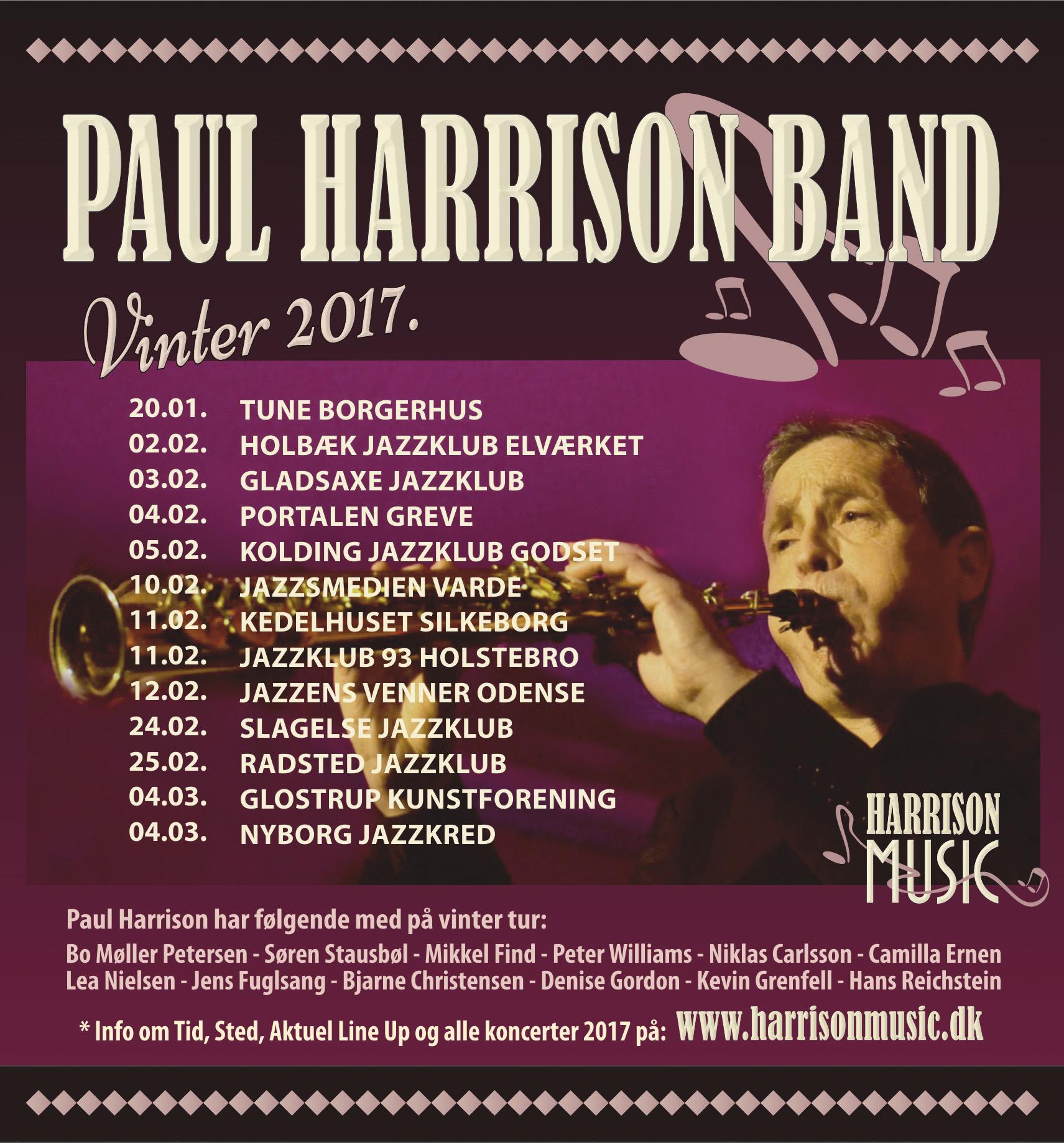 PAUL HARRISON BAND - Vinter 2017.